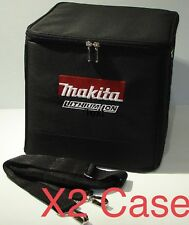 "New X2 Makita 10"" NYLON CUBE X 2 SOFT CASE TOOL BAG Black W/ STRAP"