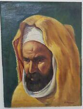 Tableau huile sur panneau portrait orientaliste