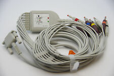 PHILIPS/HP 10 Lead ECG/EKG Cable AHA Banana 4.0mm FDA/CE Approved, new , in  USA
