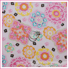 BonEful Fabric FQ Cotton Quilt VTG Pink Lace Baby Pastel Flower GIRL Dot Calico