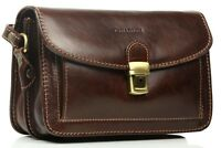 Chiarugi borsa uomo in pelle a mano con manico italian leather man bag borsello