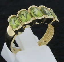 Scala Ring 333 Gold mit Edelstein Peridot Goldring Goldschmuck Peridotring 333er