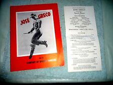 JOSE GRECO AND HIS COMPANY OF SPANISH DANCERS + PROGRAM PORTLAND  1951