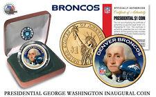 DENVER BRONCOS NFL USA Mint PRESIDENTIAL Dollar Coin -IN VELVET BOX AND COA*NEW*