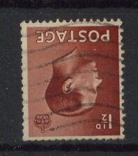 Gb Keviii 1936 Sg#459wi 1.5d Brown Wmk Inv. Used #154