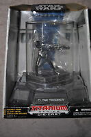 STAR WARS TITANIUM SERIES DIE CAST CLONE TROOPER POSEABLE W/ DISPLAY CASE MOSC
