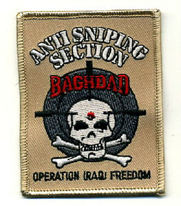 ELITE PROFESSIONALS SP OPS OPERATOR ANTI SNIPING SECTION BAGHDAD INSIGNIA