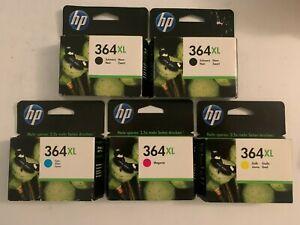 5er Set HP Tinte Patrone 364XL schwarz cyan magenta gelb C5324 B010a B209a C309a