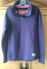SUPERDRY NWOT Dark Purple Challenger Henley Sweatshirt SOLD OUT NWOT