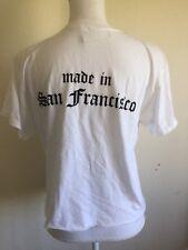 Brandy Melville white crewneck Aleena Made in San Francisco graphic top NWT