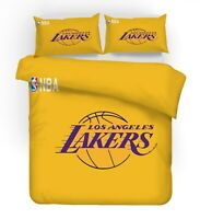 3D Yellow NBA Lakers Quilt Duvet Cover Comforter Cover Single/Queen/King 3pcs 23