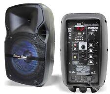 COPPIA CASSE ACUSTICHE AMPLIFICATE ATTIVE bluetooth con usb-sd radio diffusori