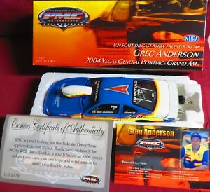 "GREG ANDERSON, 1/24 2004 PMC PONTIAC PRO STOCK, ""VEGAS GENERAL"",  1 OF 1,008"