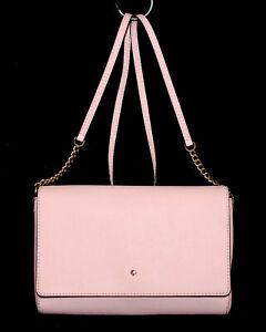 KATE SPADE Charlotte Street Alek Flap Crossbody WKRU3420 Blush Pink Leather