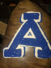 Vintage Letterman Letter Blue And White Wool