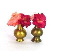 Set Of 2 Indian Vintage Brass Flower Pot / Vase Tableware Decorative. G7-1000 US