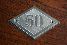 Vintage Soviet Sign Apartment Flat Door Stainless Steel Number #50