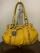 ETIENNE AIGNER Classic Yellow Leather Large Carryall Tote Shoulder Purse Bag