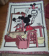 Mickey Mouse Self Portrait The Walt Disney Company Throw Blanket Tapestry Nwt