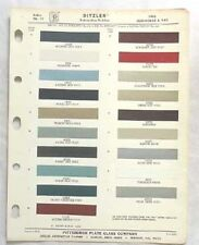 1966 OLDSMOBILE PPG COLOR PAINT CHIP CHART ALL MODELS ORIGINAL
