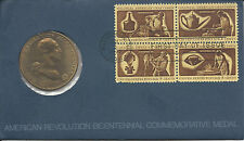 1972 George Washington American Revolution Bicentennial  Medal & First Day Cover