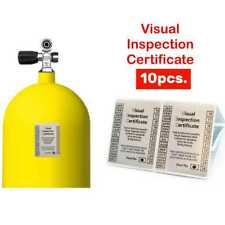 Scuba Diving Visual Inspection Stickers Air Dive Cylinders 10 pcs Certificate