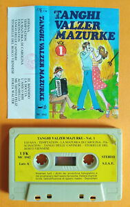MC Musicassetta Compilation VALZER TANGHI MAZURKE Vol.1 Unifunk Italy Folk no cd