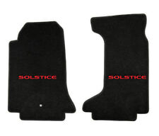 NEW! Floor Mats 2006-2010 Pontiac Solstice Embroidered Red Letters Logo