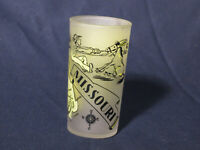 VTG State of Missouri Drinking Glass Souvenir Anchor Hocking man pulling mule