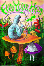 (LAMINATED) ALICE IN WONDERLAND - CATERPILLAR HOOKAH FEED YOUR HEAD POSTER 91x61