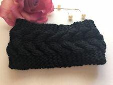 US Women Crochet Headband Knit Flower Hairband Ear Warmer Winter Headwrap
