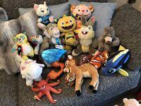 Job Lot Bundle 15 x Disney Soft Toys collectables