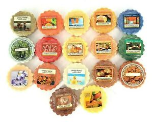 17 Yankee Candle Wax Melts Lot - Assortment of Various Scents Different Seasons