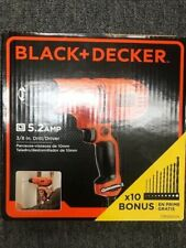 """Brand New Black and Decker 5.2 Amp 3/8"""" Drill Dr260Va*Free Shipping*"""