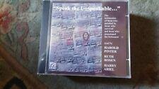 """Harold Pinter,""""Speak The Unspeakable"""" New & Sealed CD"""