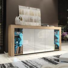 Larsen II Sideboard TV Unit Cabinet Cupboard Matt Body and High Gloss Doors +LED