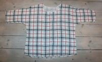 Women's Vintage Made In Italy White Red Black Check 100% Cotton Blouse Top UK18