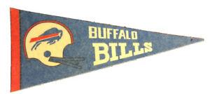 Vintage 1970's NFL Buffalo Bills Mini Football Pennant National Football League