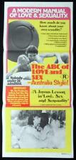 THE ABC OF LOVE AND SEX 1978 Australia Style Daybill Movie poster John Lamond