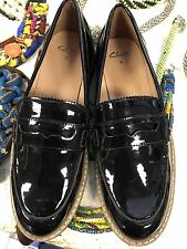 Brand New Clark Loafers Size 4 Real Leather Black