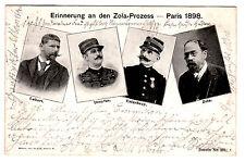 1898, AK, Portrait-Ansichtskarte zur Erinnerung an den Zola-Prozess - Paris 1898