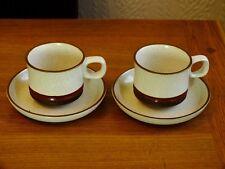 Denby Potters WHEEL tazze e piattini x 2