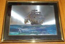 "Metallic Ship Picture- 8"" x 10"""