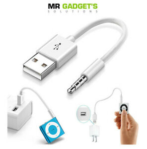 USB Charger Data sync cable lead for Apple 3rd 4th 5th 6th 7th Gen iPod shuffle