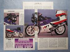 MOTOSPRINT988-PROVA / TEST-1988- APRILIA AF/1 125 SINTESI - 3 fogli