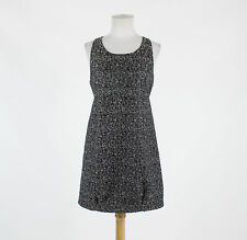 Black & white tweed BB DAKOTA sleeveless scoop neck above knee cocktail dress 6