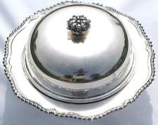 Vintage Silverplate 3-Piece Domed Covered Serving Dish - Quality -Very Good Cond