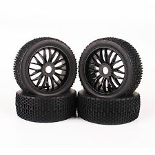 Set 4 X Tires Tyre Wheel Rim For 1:8 RC Car Off-Road Buggy HPI HSP Traxxas