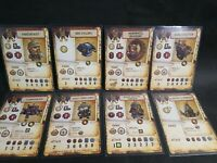 RIVET WARS EASTERN FRONT BLIGHT FORCE 8 STAT CARDS SLEEVED MINT SEE PICS