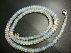 """NATURAL ETHOPIAN WELO OPAL SMOOTH RONDELLE 3.5-6.5 MM,17"""" BEADS NECKLACE"""